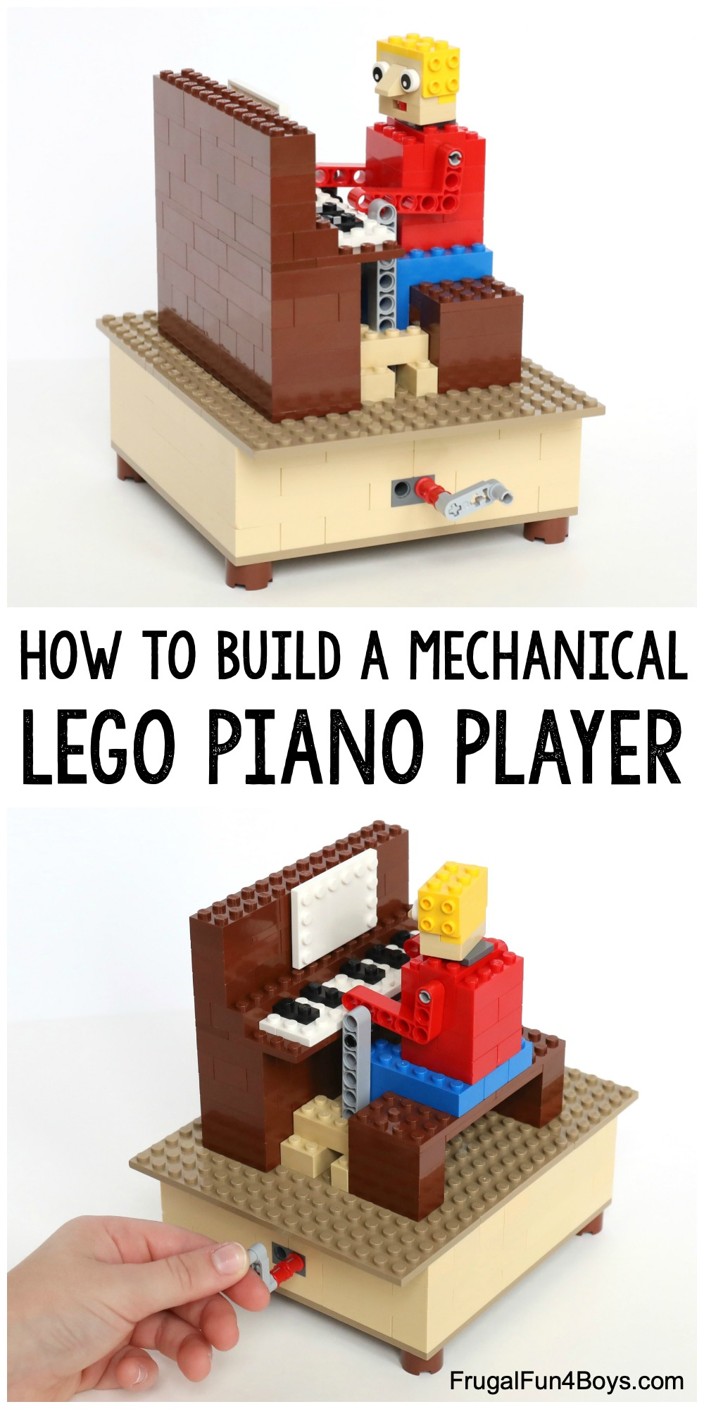How to build a Mechanical LEGO Piano Player