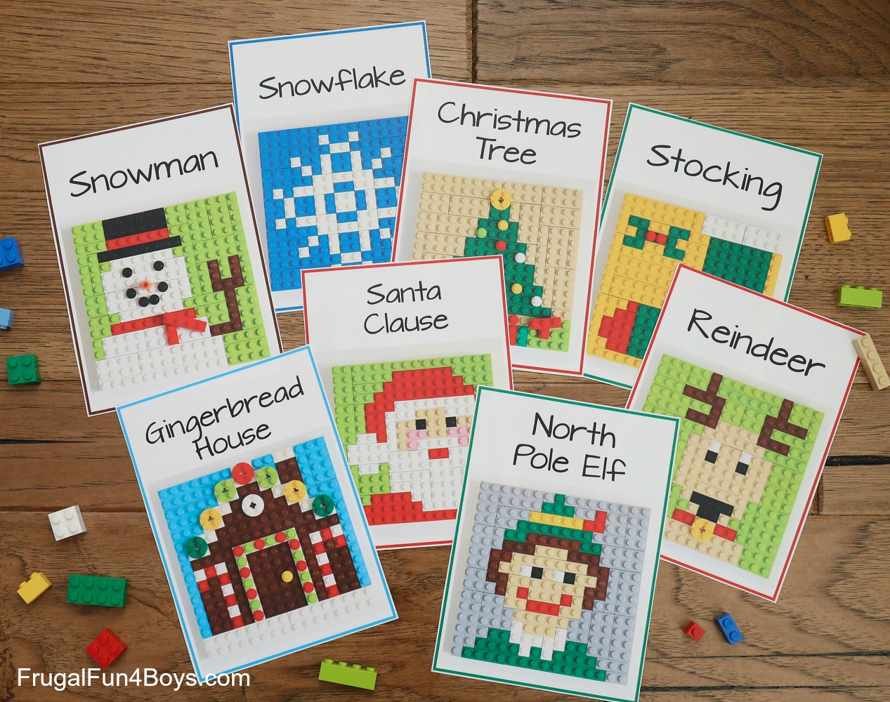 LEGO Christmas Building Cards