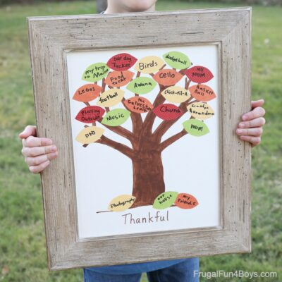 Make a Simple and Beautiful Thankful Tree