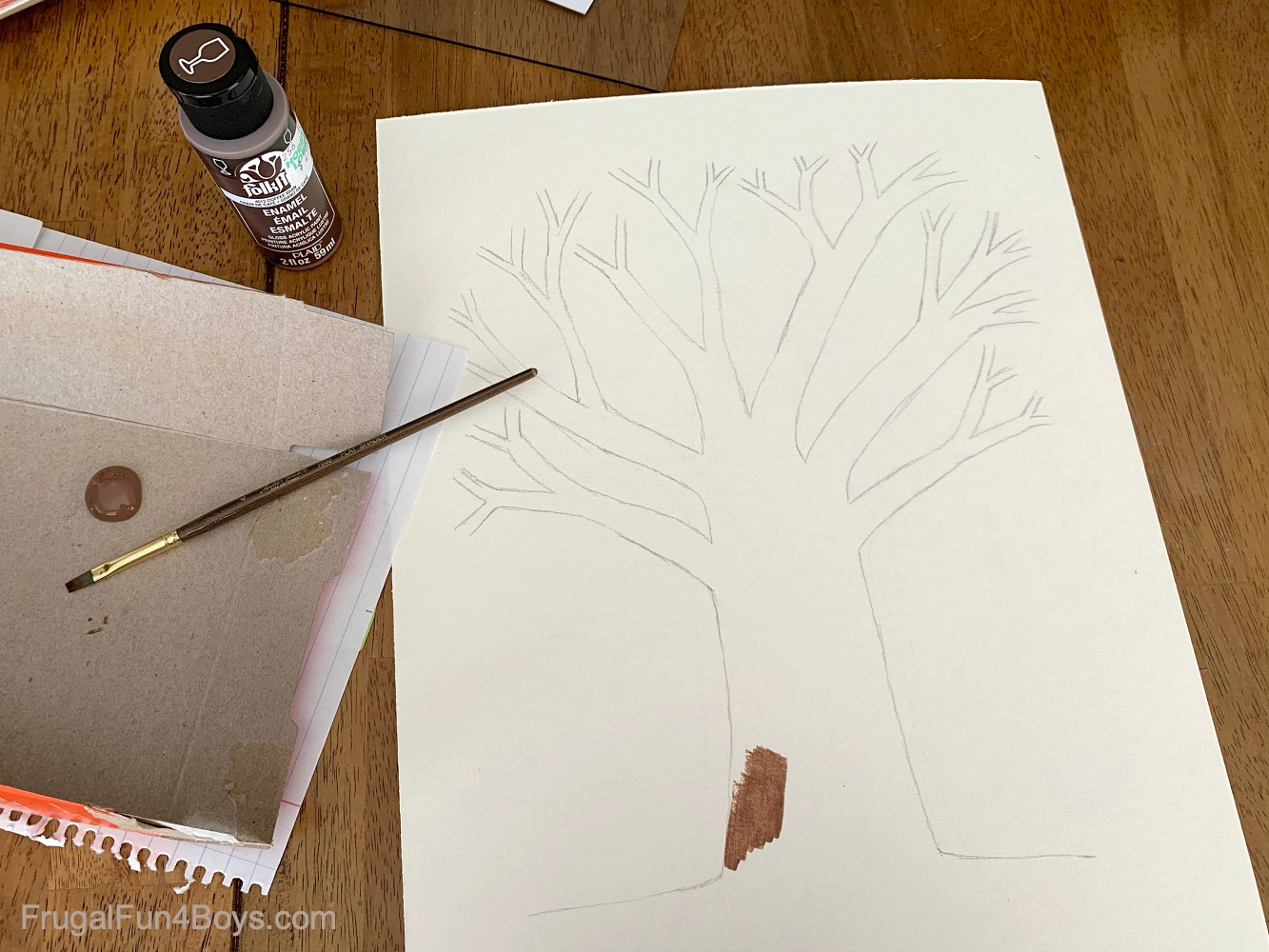 Draw a Thankful Tree