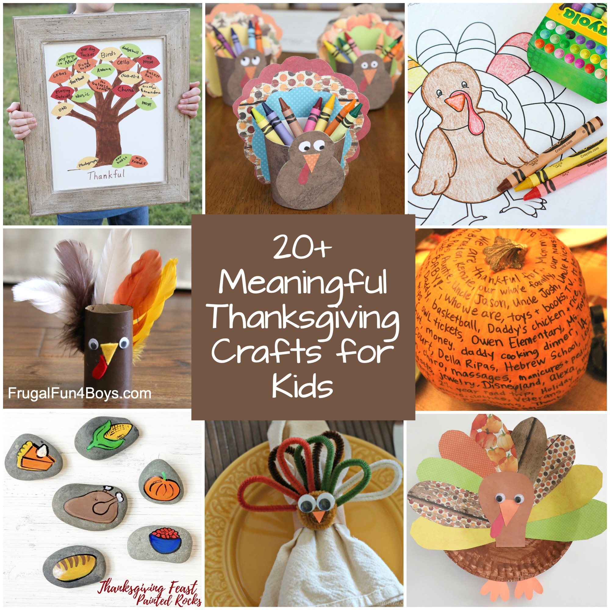 20 of the Best Meaningful Thanksgiving Crafts for Kids