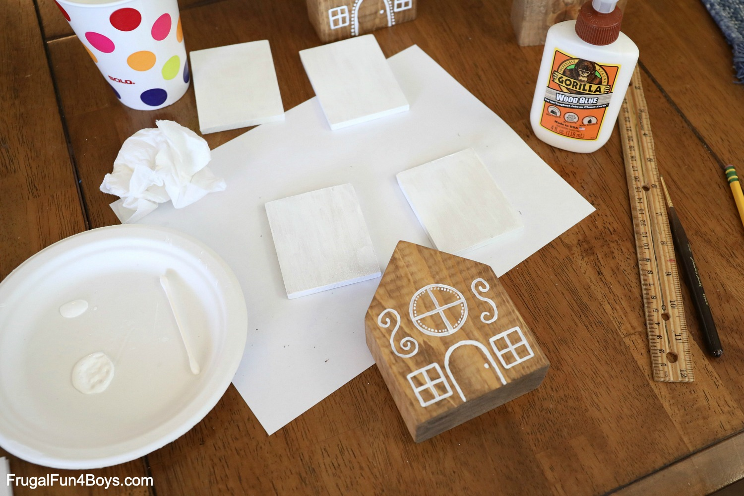 How to Make Wooden Gingerbread Houses