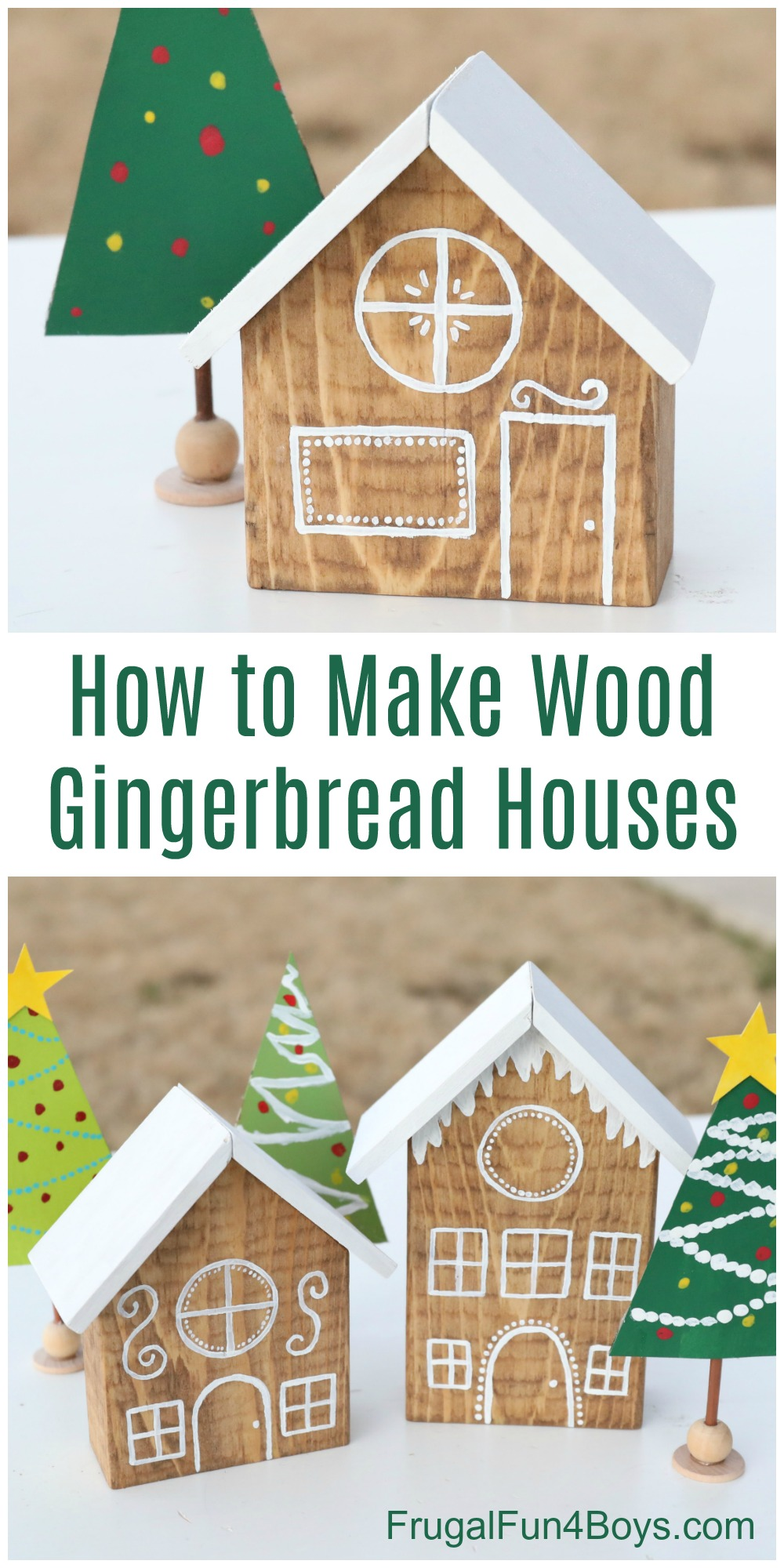 Wooden Gingerbread Houses