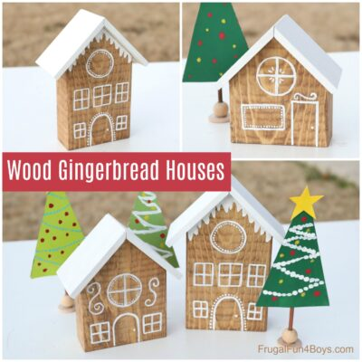 How to Make Adorable Wooden Gingerbread Houses