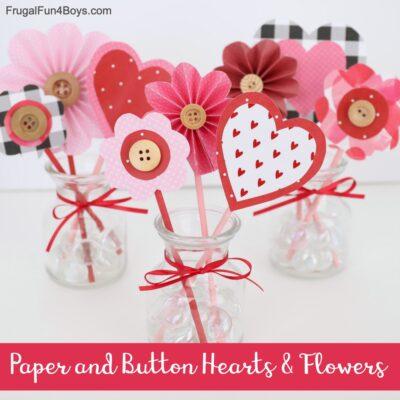 Valentine's Day Paper Flowers Craft