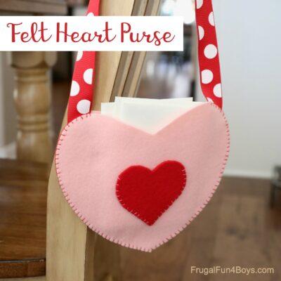 Adorable Felt Heart Purse