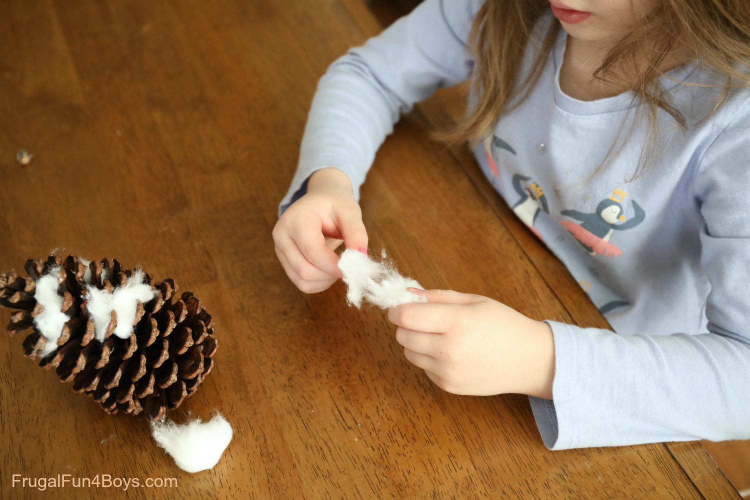 Pine Cone Snowy Owl Craft