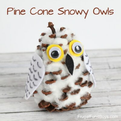 Adorable Pine Cone Snowy Owl Craft for Kids