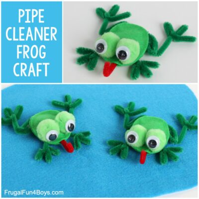 Felt and Pipe Cleaner Frog Craft
