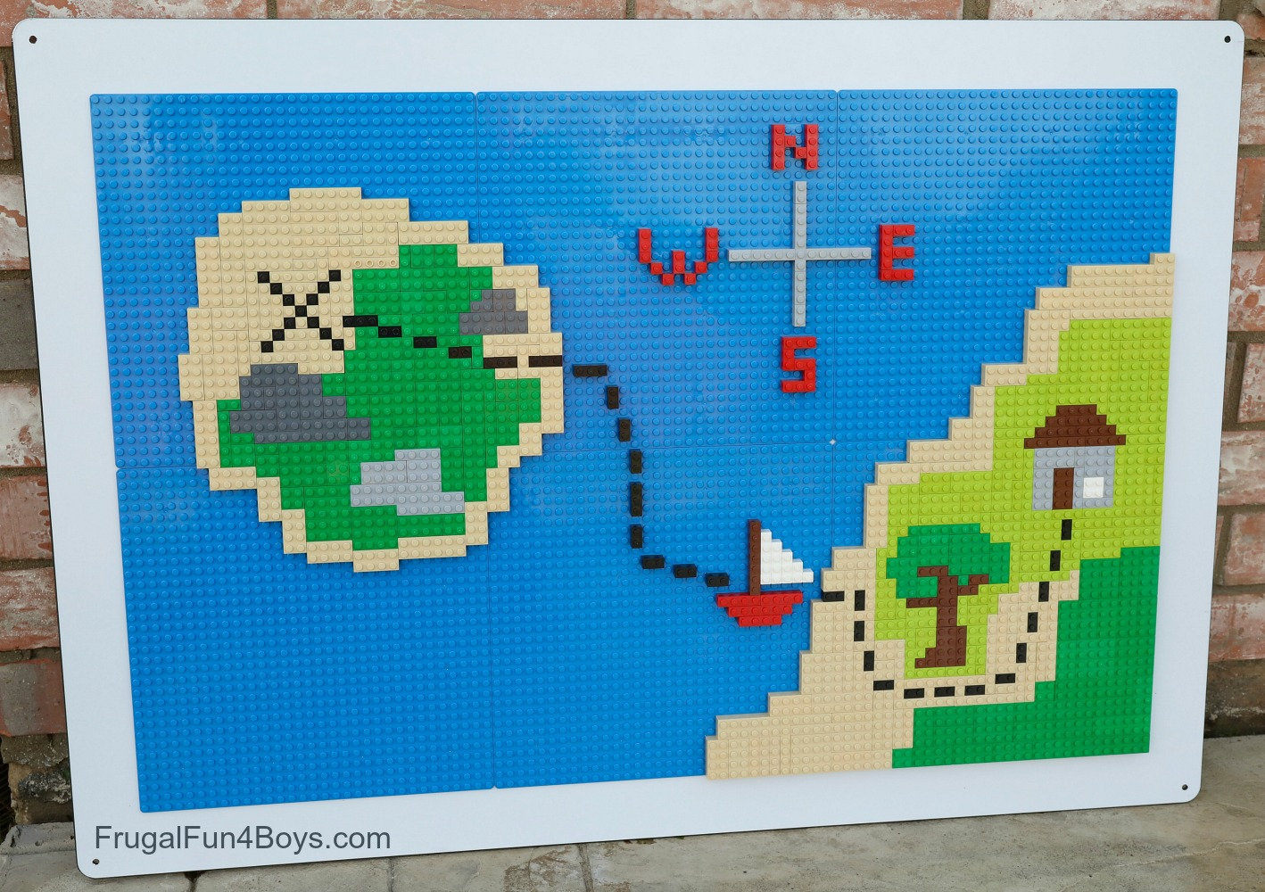 LEGO Wall Treasure Map