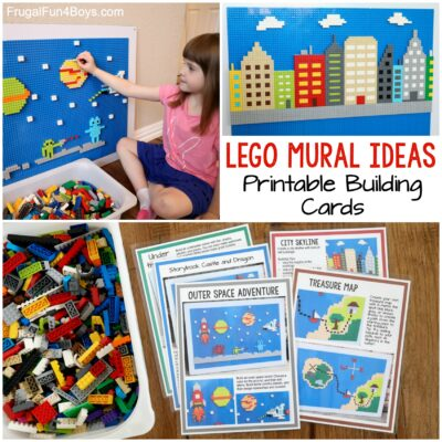 LEGO Wall Building Ideas and Printable Building Cards