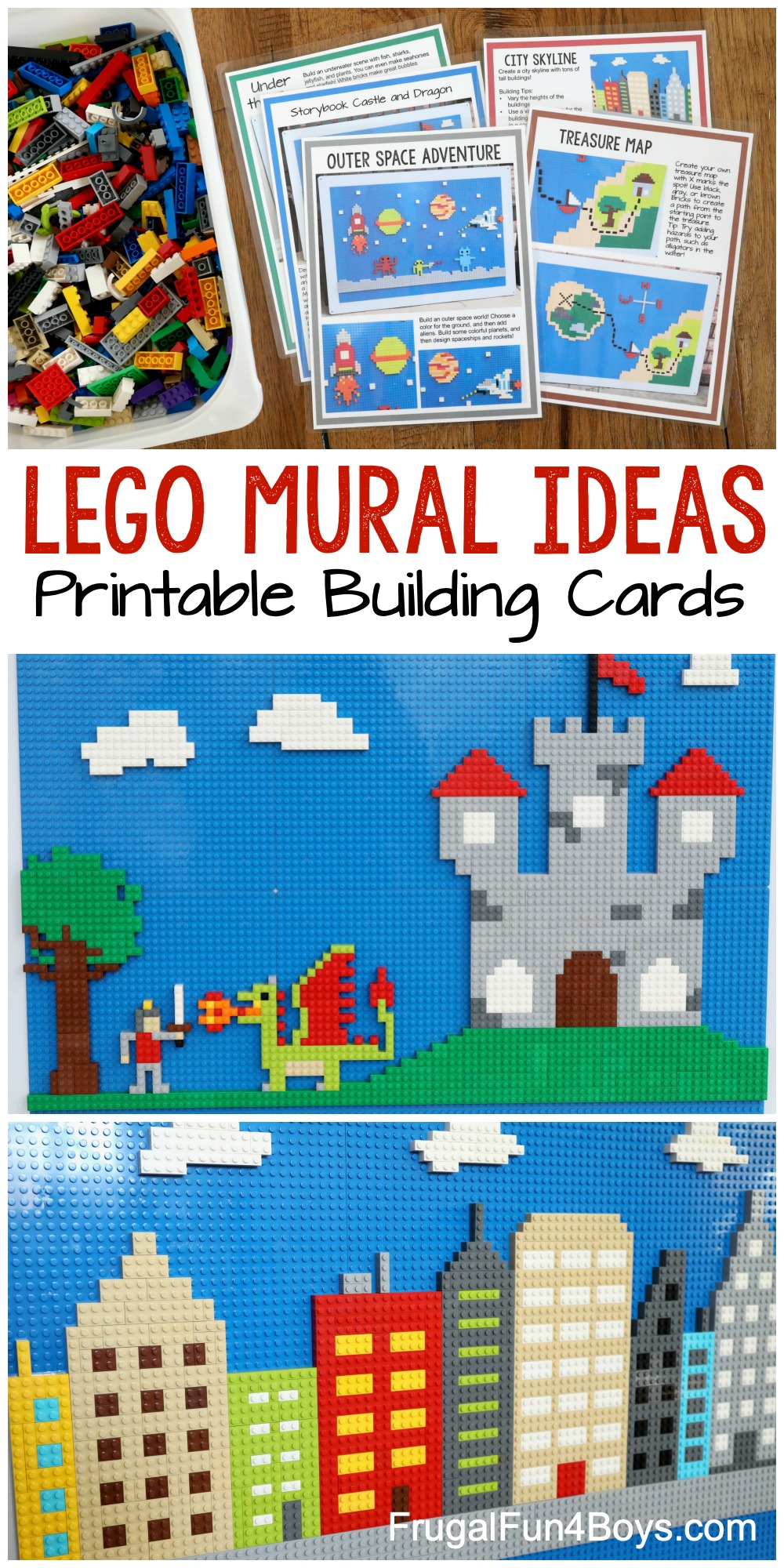 lego wall building ideas