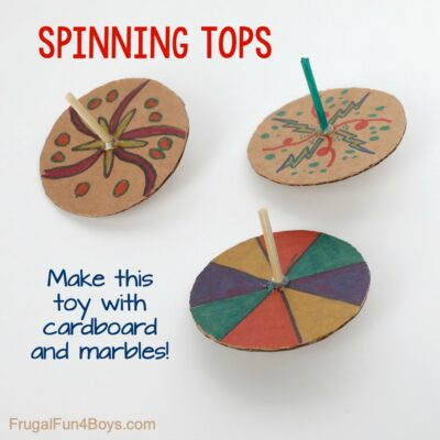 Make Spinning Tops with Cardboard and Marbles