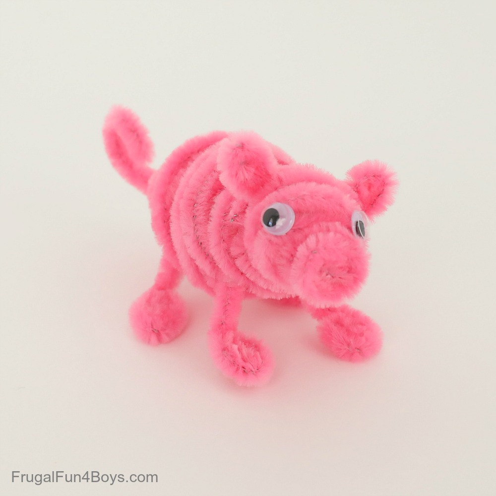 Pipe Cleaner Animals - Pig