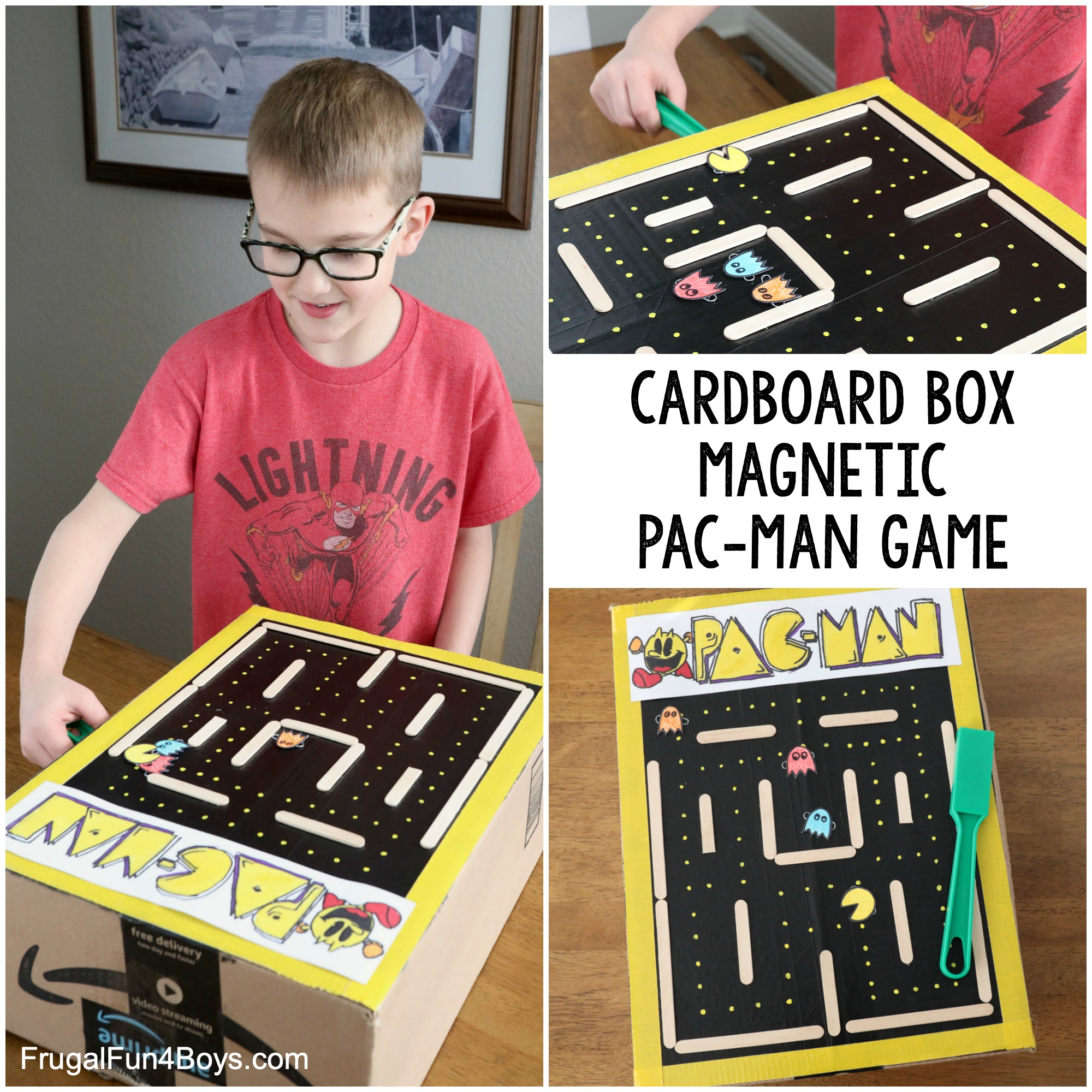Cardboard Box Pac-Man Game