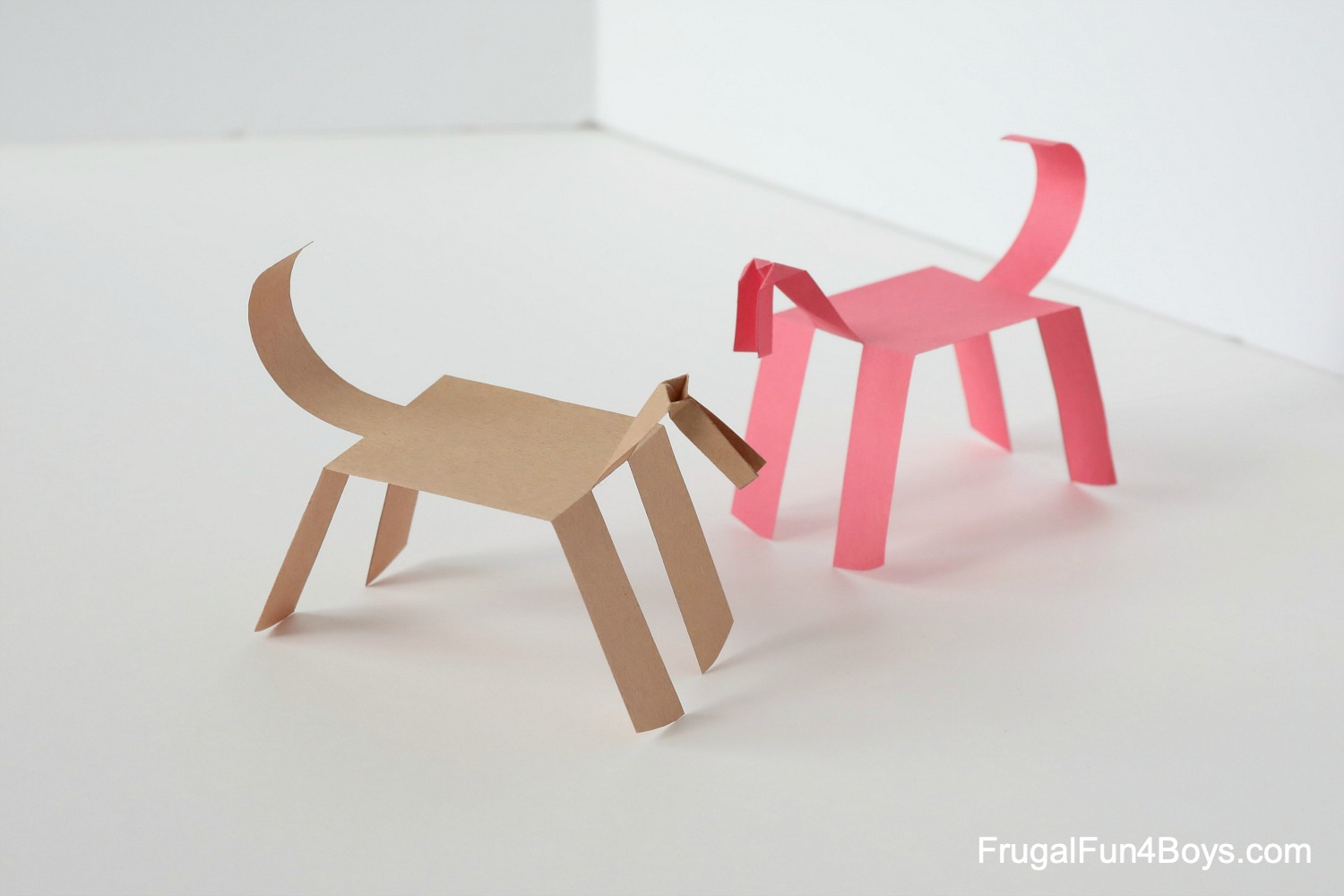 Make A Paper Horse That Walks Frugal Fun For Boys And Girls