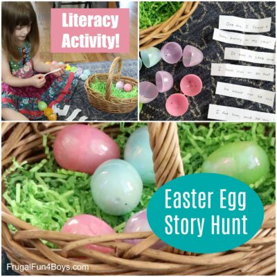Easter Egg Story Hunt Literacy Activity