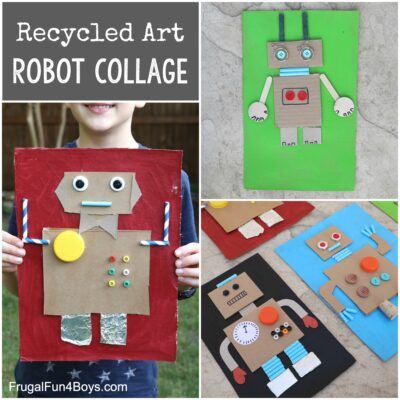 Cardboard Robot Collage