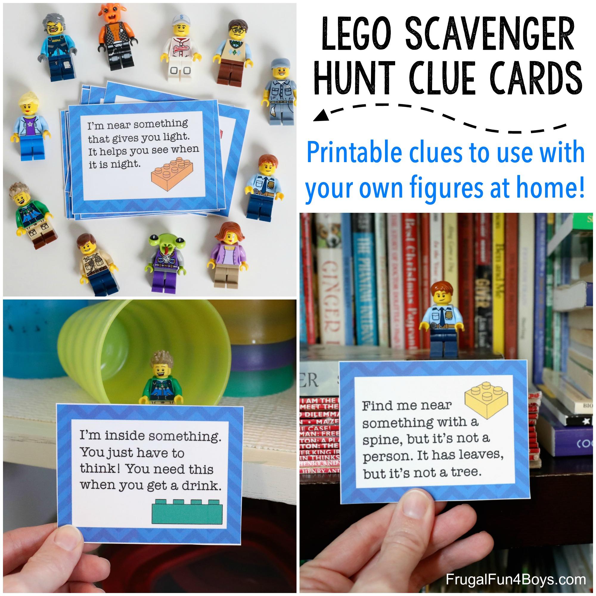 LEGO scavenger hunt clue cards