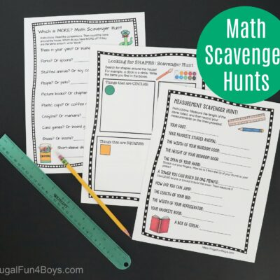 Printable Math Scavenger Hunts for Early Elementary