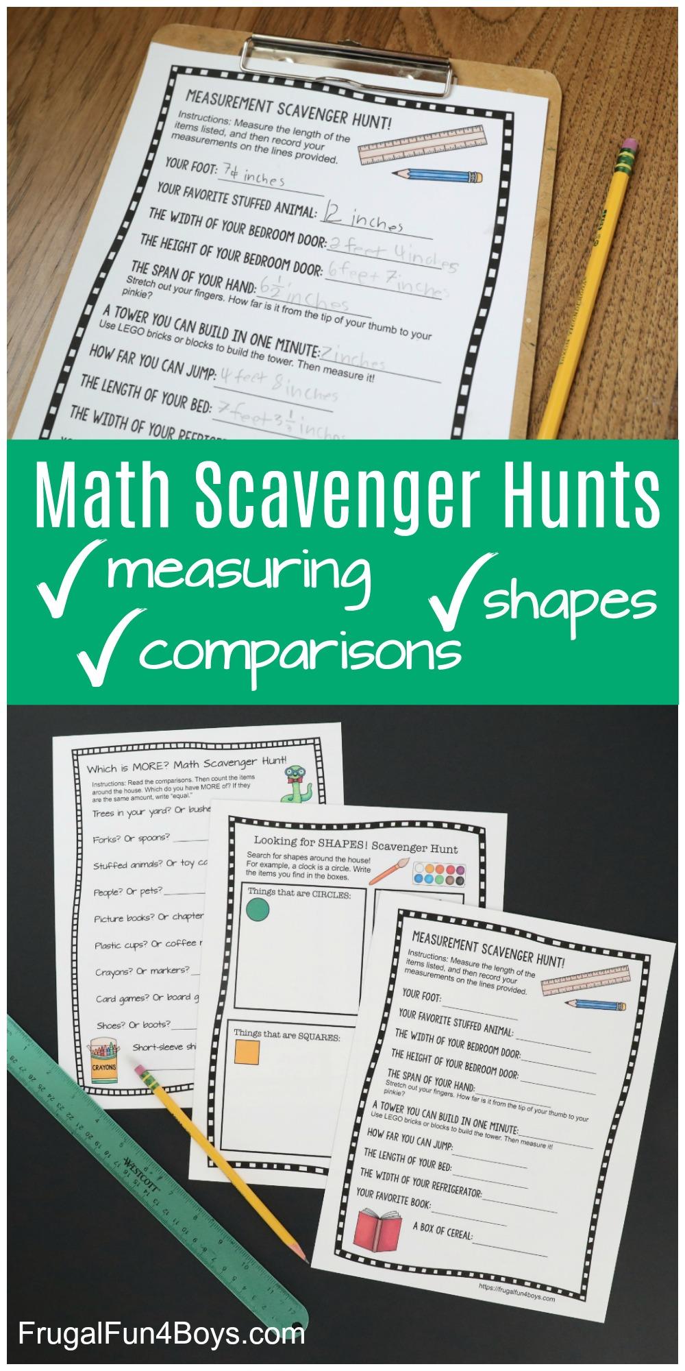 math scavenger hunts