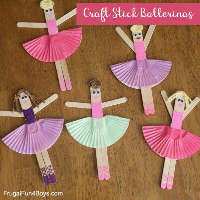 Craft Stick Ballerina Craft