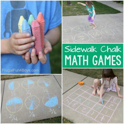 Sidewalk Chalk Math Games