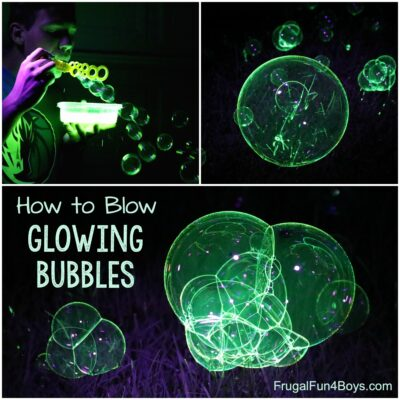 How to Make Glowing Bubbles
