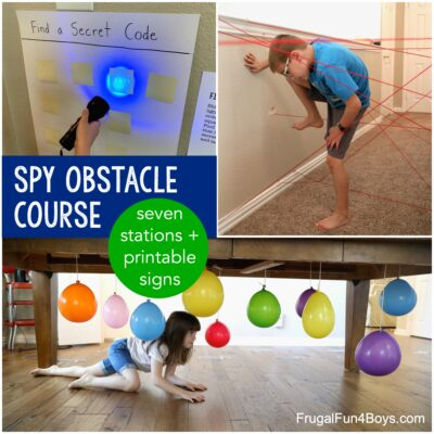 Make an Indoor Spy Obstacle Course