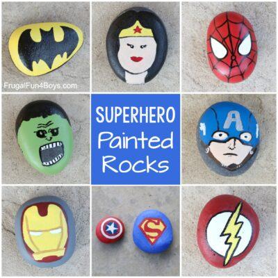 Superhero Painted Rocks