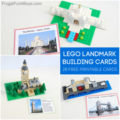 Free LEGO World Landmark Building Cards