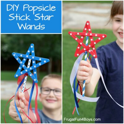 Popsicle Stick Star Wands