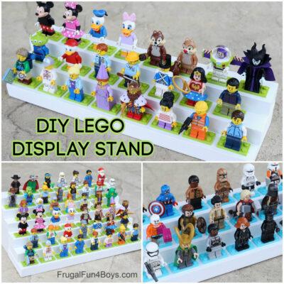 DIY Wood LEGO Minifigure Display Stand