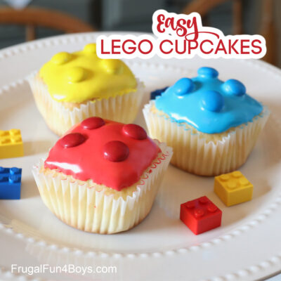 The Cutest EASY LEGO Cupcakes
