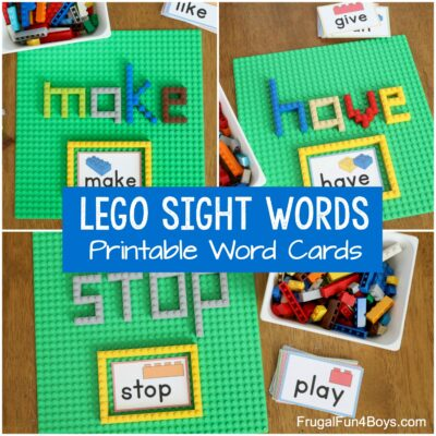 Build LEGO Sight Words Activity
