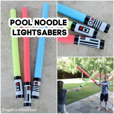 Make a Pool Noodle Lightsaber