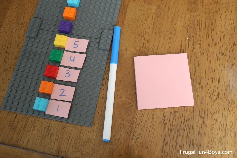 LEGO Number Line Activities