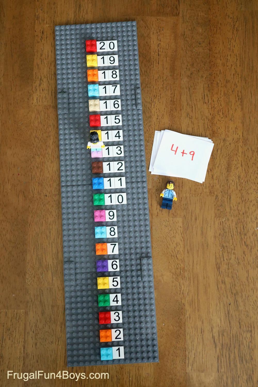 LEGO Number Line 1-20