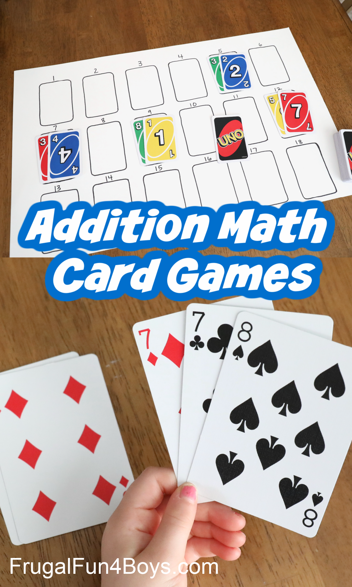 First Grade Math Games - Addition Card Games