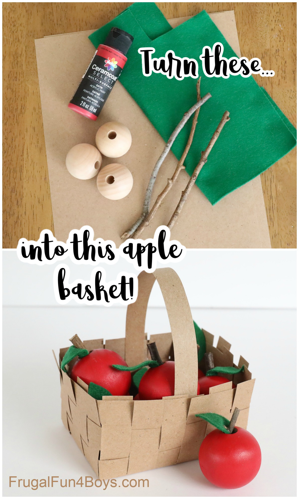 Apple Basket Craft Frugal Fun For Boys And Girls