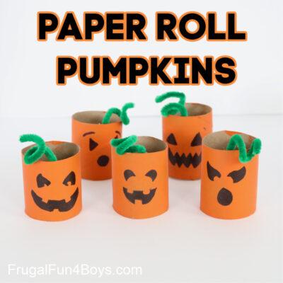 Paper Roll Pumpkin Craft