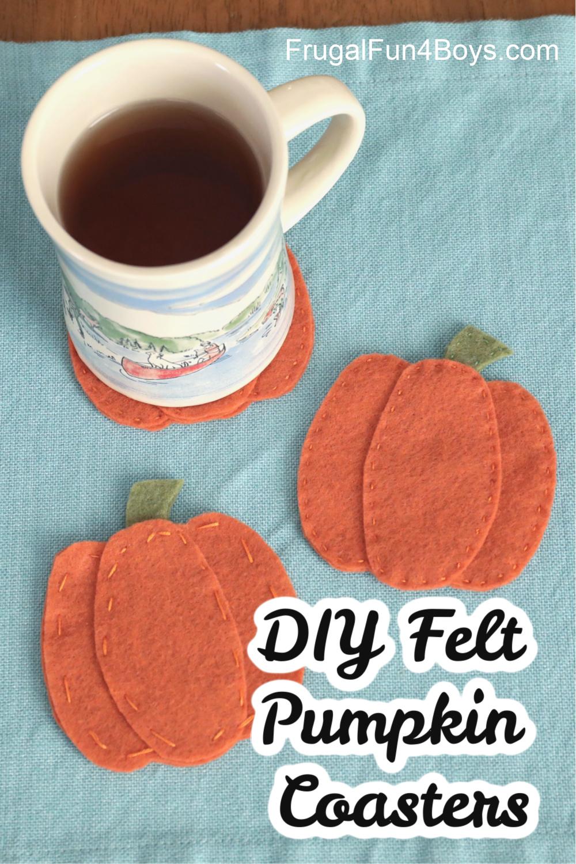 Felt Pumpkin Coasters - Pumpkin Craft