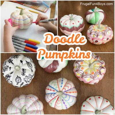 Doodle Art Pumpkin Decorating Ideas