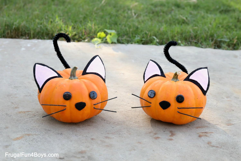 cat pumpkin decorating ideas