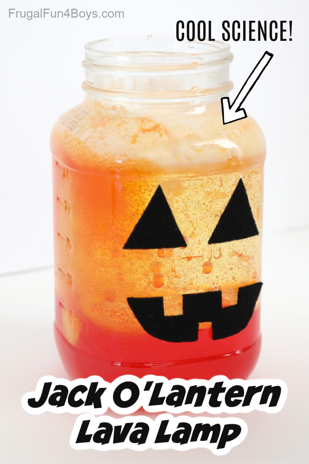 Jack O'Lantern Lava Lamp in a jar.