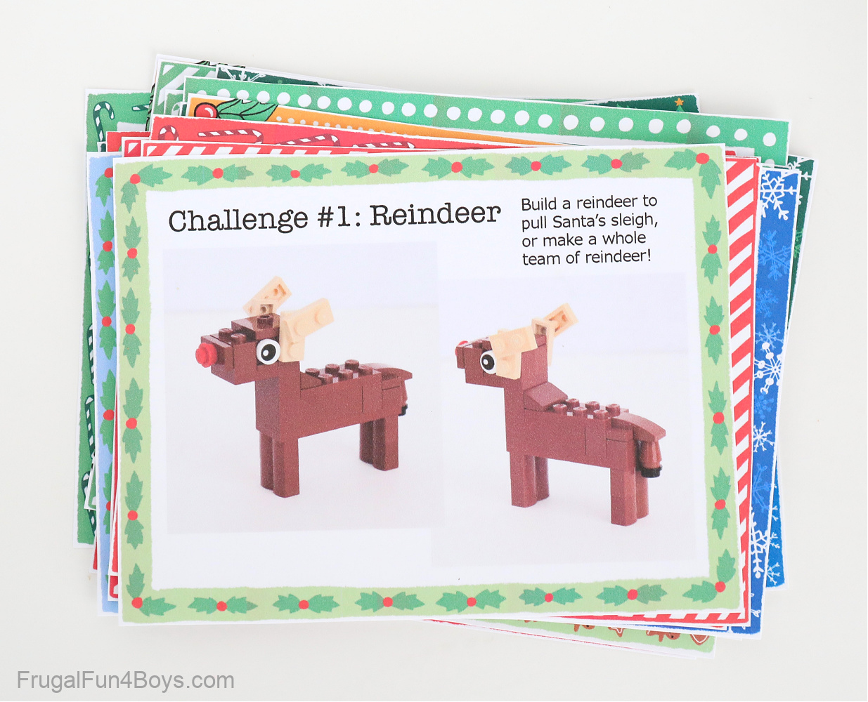 LEGO Advent Calendar challenge cards
