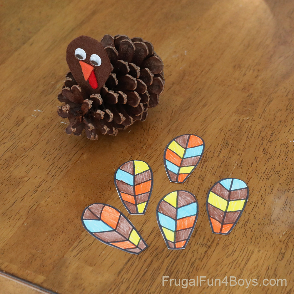 pine cone turkeys Thanksgiving craft