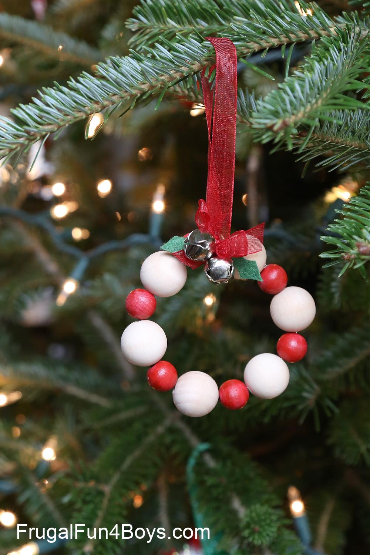 Wood Bead Christmas Ornaments