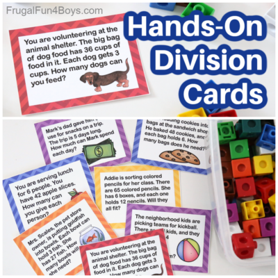 Printable Division Task Cards