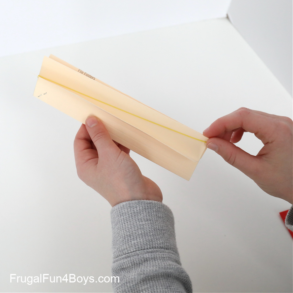 How to make a File Folder Paper Airplane Launcher